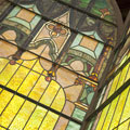 Beautifully crafted glass stain windows of the Owatonna Art Center.
