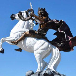 Warrior King Jesus on a White Stallion